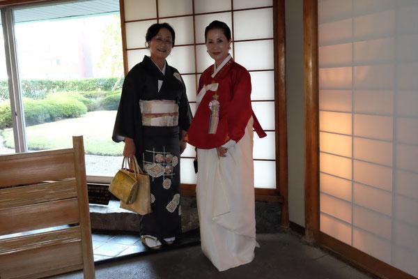 小田先生 韓国茶道家元、李瑛子先生。