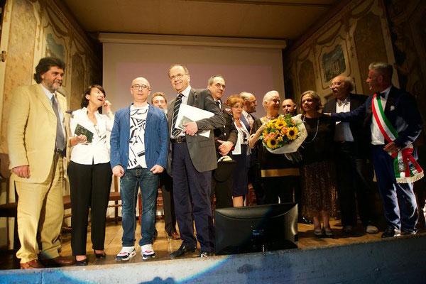 Foto di gruppo al termine della XXI edizione del Premio Rotondi 2018