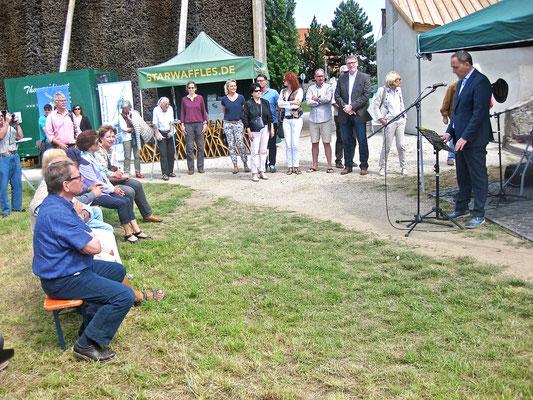 Bürgermeister Klaus Kreß bei seiner Rede