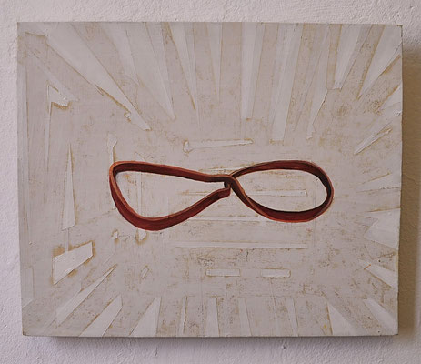 "Maruska Mazza, ""Resilienza"", oil on wood, 2015"