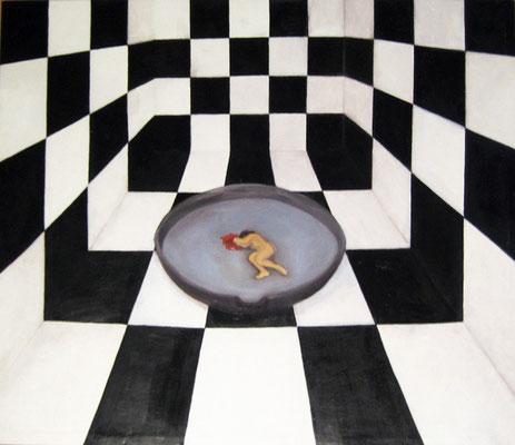 """Maruska Mazza, """"La coscienza"""", 1997,  oil on canvas, 79x82 cm"""