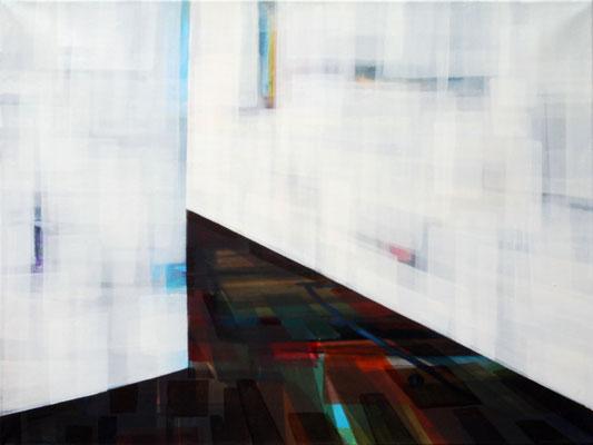 """Maruska Mazza, """"The corridor"""" 2010, Oil painting on canvas, 80x60 cm"""