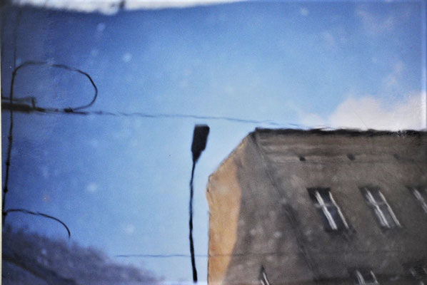 "Maruska Mazza, "" Torstr."", 2002, analog picture, series of reflections"