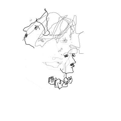 "Masurka Mazza, "" Sogno onirico"", 2006 Digital drawing on photographic paper and wood, 20x21 cm"