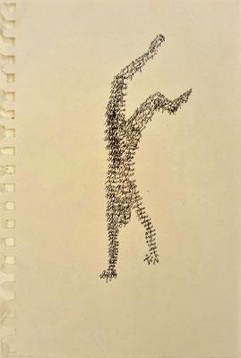 """Masurka Mazza, """"Segno"""", 2000, pen on paper"""