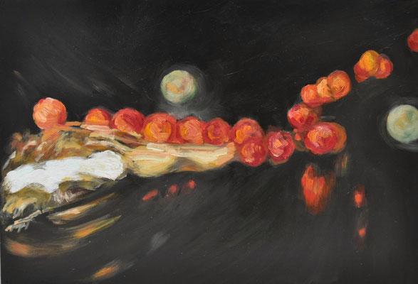 Maruska Mazza, 2016,  Oil painting on wood, 20 x 35 cm
