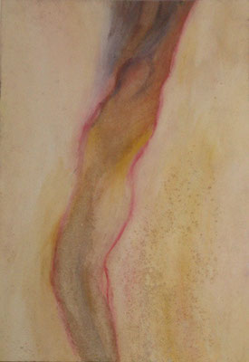 Maruska Mazza, Untitled, 1995 fresco on wood, 50x70 cm