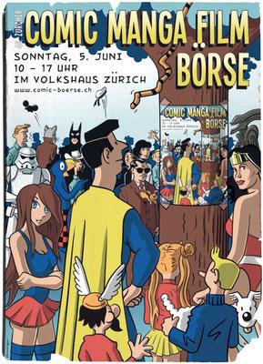 Poster für die Zürcher Comic, Manga und Film Börse