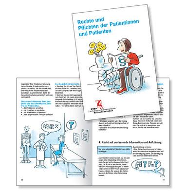 Broschüre Patientenrechte für den Dachverband Schweizerischer Patientenstellen