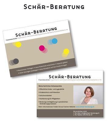 Logo und Geschäftskarte für Schär-Beratung