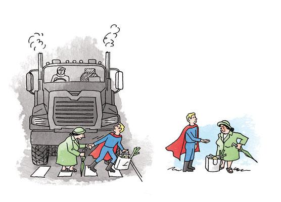Illustration zu einem Gedicht von Markus Marty