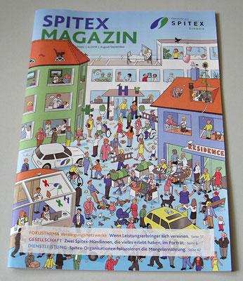 Wimmelbild für das Spitexmagazin