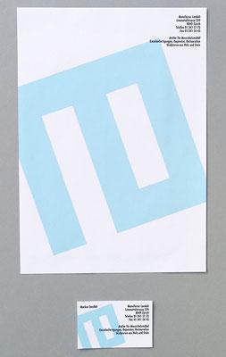 """Briefpapier und Visitenkarte für die """"Manufactur Landolt"""" Zürich-Höngg"""