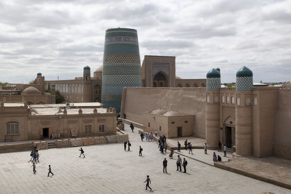 Khiva, Festung Konya Ark und Minarett Kalta Minor