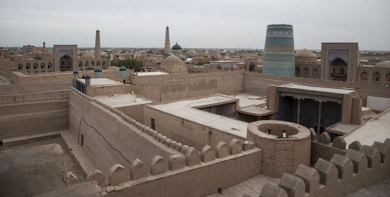 Khiva, Blick vom Turm des Konya Ark