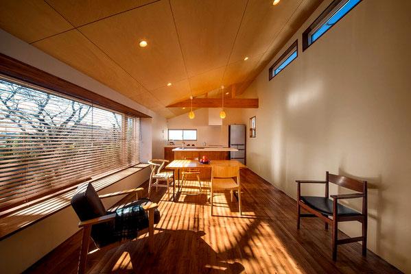 【注文住宅】千葉県松戸市の二世帯住宅 重層長屋の家 リビング