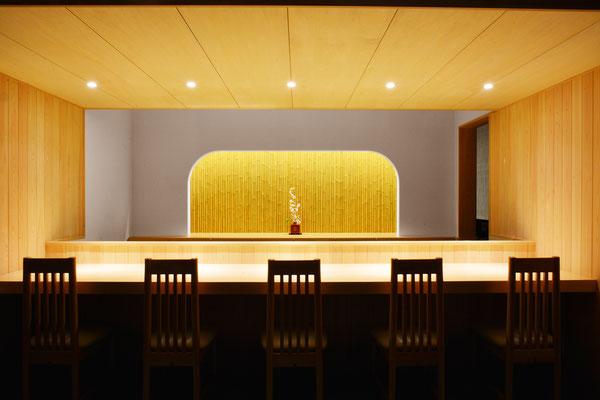 【店舗設計】石川県七尾市和食料理店 カウンター席