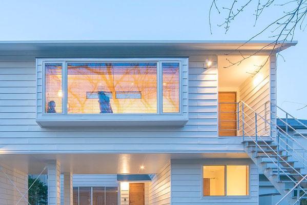【注文住宅】千葉県松戸市の二世帯住宅 重層長屋の家 外観