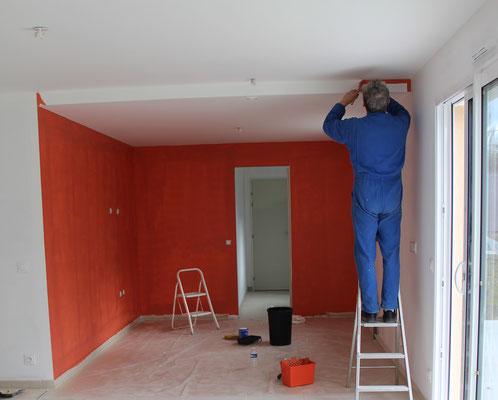 Auto-réalisation peinture - première couche