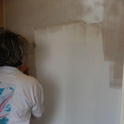 Auto-réalisation peinture en cours - première couche