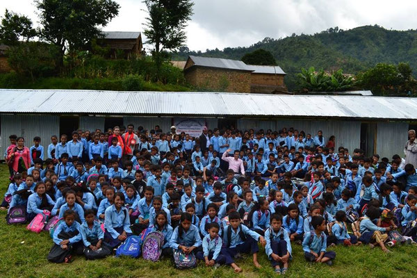 Nepal Earthquake Support by BE YOGI Beate Laudien - opening Shree Indrayeni Secondary School Muriya