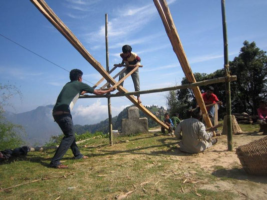 Nepal Earthquake Support by BE YOGI Beate Laudien - first construction works