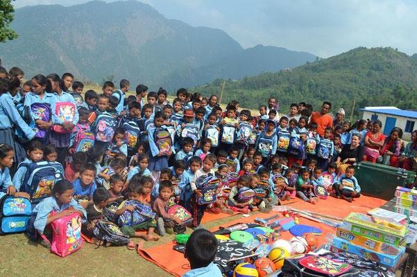 Nepal Earthquake Support by BE YOGI Beate Laudien - opening Mahadev Kharka learning centre