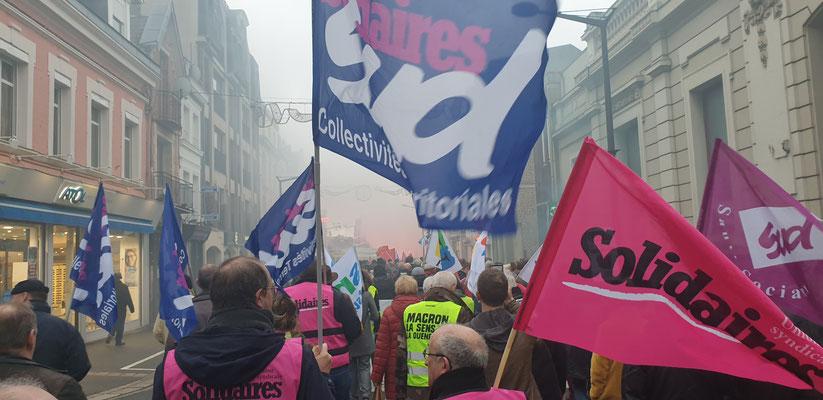 Manifestation du 09 Janvier 2020 à SAINT-QUENTIN (02)