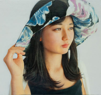 潮田和也 P15号(部分) 『Summer wind』