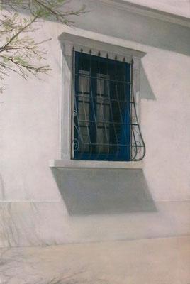 福田真規 P6号 『青い窓』
