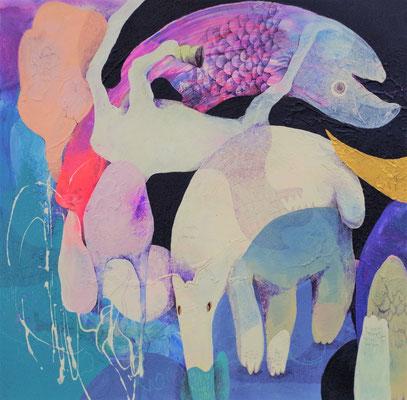 nenco F10号 『安住の地で、喜び踊る動物たち』