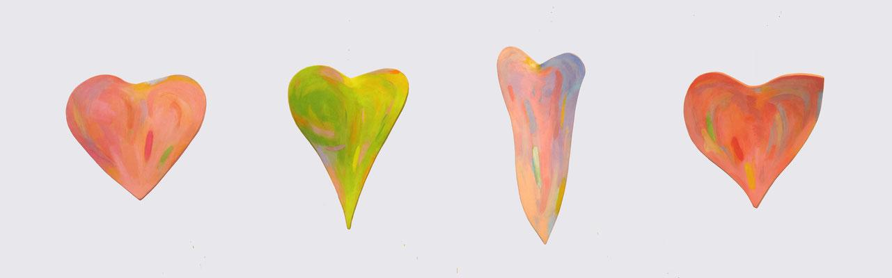 約50×40cm×4点 『THE HEARTS』