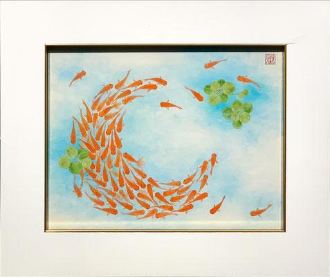 板井香 F6号 『金魚』