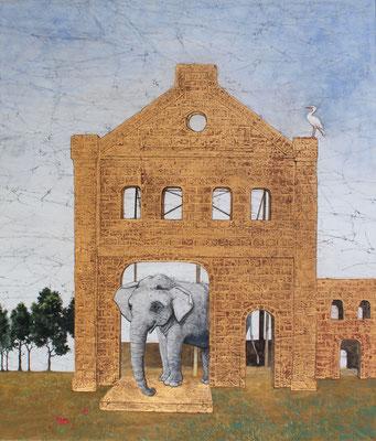 柏木菜々子 F10号 『象の廃墟』