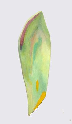 岡本幸久 (自然木を用いたオリジナルキャンバスにアクリル彩色)54×14㎝ 『包容』