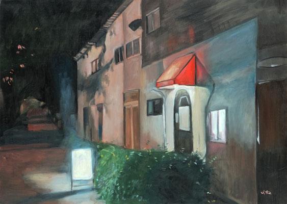 石川理恵 油彩・F30号 『LIGHT TIME, Bar 8:56pm』