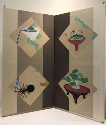 中村寿生 (日本画)タテ2尺7寸・ヨコ2尺8寸 『田から舟』