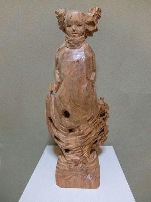 角谷豊明 H50×W20×D15cm 『木枯らしの季節』