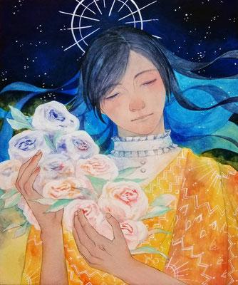 長谷川里香 F8号 『星に願いを』