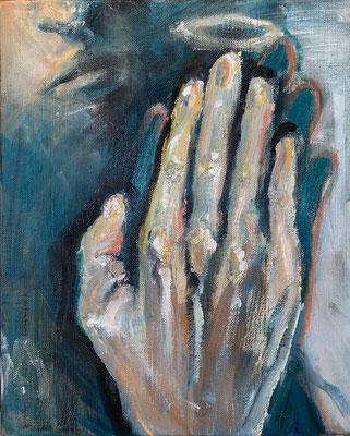 渡邊紗妃 oil on canvas F3号 『Sandwich』