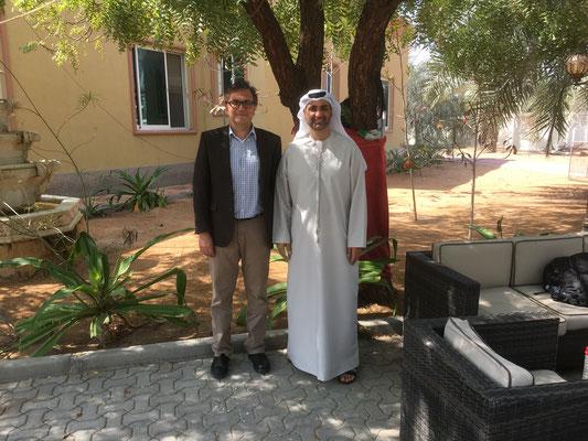 """Treffen mit dem """"grünen Scheich"""" - Sheikh Abdul Aziz bin Ali al Nuaimi"""
