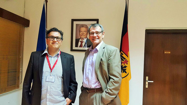 Der deutsche Botschafter in Bangladesch, Dr. Prinz