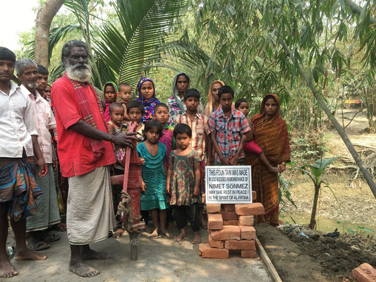 In Erinnerung an die verstorbene Mutter einer Freundin wurde dieser Brunnen realisiert (noch im Bau)