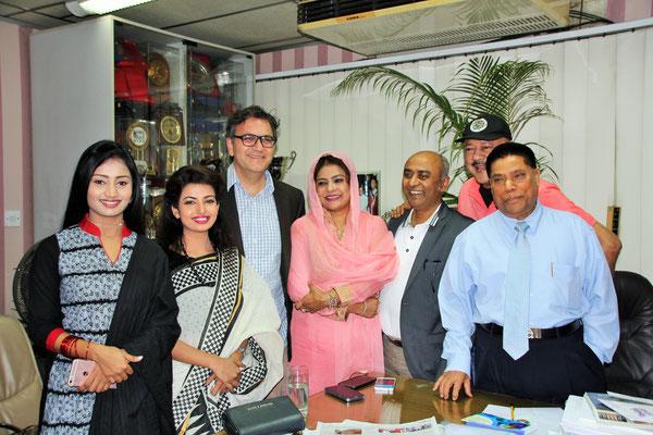 ATN Bangla, der Geschäftsführer hat uns zu einem Interview eingeladen
