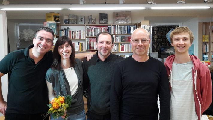 vlnr: Boris Köck (Fridolin von Freigeist und Perc.), Sonja Eschke, Johannes Ochsenbauer (Bass), Jan Eschke (Keyboard und Effekte), Sebastian Wolfgruber (Drums)