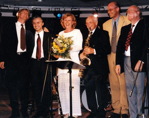 HEINZ KRETZSCHMAR SWINGTETT & SILVIA DROSTE (Hein de Jong, Henk Haverhoek, Hans Braber, Dresden 1999)