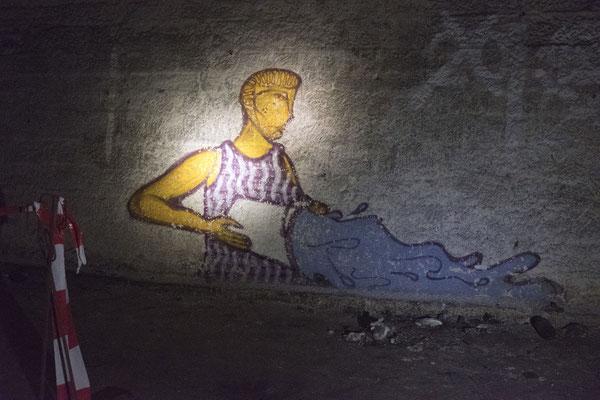 Graffiti im alten Rosensteintunnel