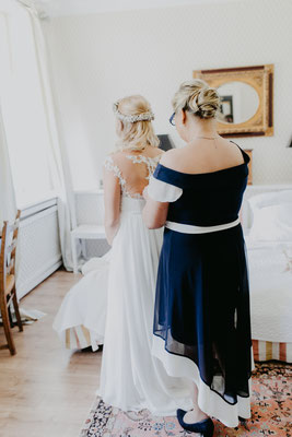 anziehen der Braut