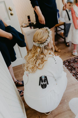Vorbereitung Braut
