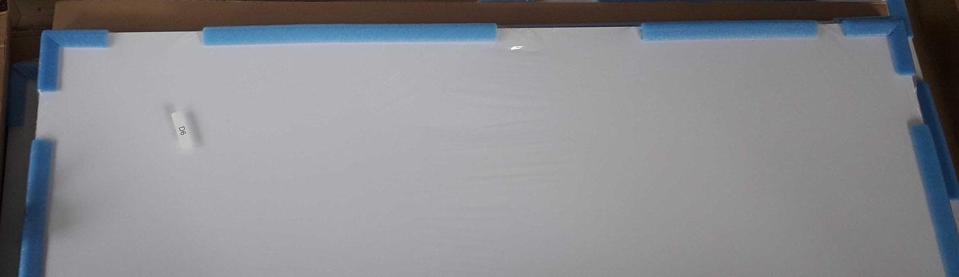 Rückseite von Acrylglas